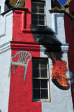 De Brand van de toren in het Hotel van Grutten John'o royalty-vrije stock foto