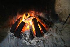 De brand van de turf Stock Foto's