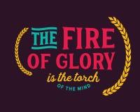 De brand van glorie is de toorts van de mening royalty-vrije illustratie