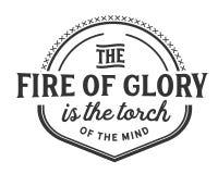 De brand van glorie is de toorts van de mening stock illustratie