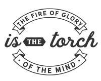 De brand van glorie is de toorts van de mening vector illustratie