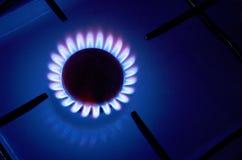 De brand van het gas Stock Foto's