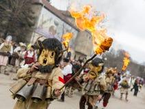 De brand van het het kostuumfestival van het Survamasker Stock Fotografie