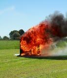 De brand van het huis Royalty-vrije Stock Afbeeldingen