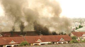 De brand van het huis. Royalty-vrije Stock Fotografie