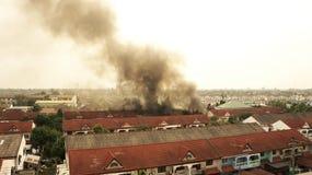 De brand van het huis. Stock Foto's