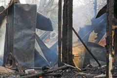 De brand van het huis stock foto's