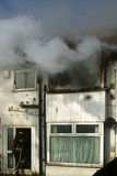 De brand van het huis Stock Fotografie