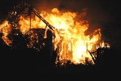 De brand van het huis Royalty-vrije Stock Foto