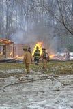 De brand van het huis Stock Foto