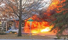 Brand op Eiken Bluff 4 Stock Fotografie