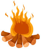 De brand van het kamp Royalty-vrije Stock Afbeeldingen
