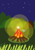 De brand van het kamp Stock Afbeelding