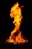 De brand van het kamp. Stock Afbeelding