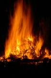 De Brand van het kamp Stock Foto