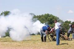 De brand van het kanon Stock Afbeeldingen
