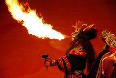 De brand van het spuwen Stock Foto's