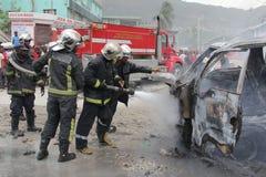 De Brand van het voertuig Stock Foto's