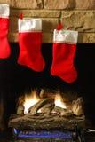 De Brand van Kerstmis Stock Foto's