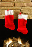 De Brand van Kerstmis Stock Afbeelding