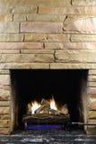 De Brand van Kerstmis Stock Foto