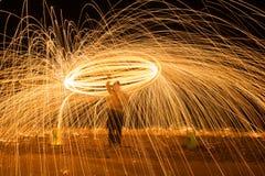 de brand van de staalfotografie in de camera stock afbeeldingen