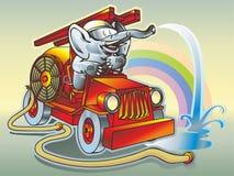 De brandbestrijder van de olifant stock illustratie