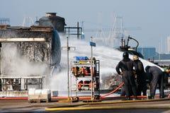 De brandbestrijders oefenen uit royalty-vrije stock foto's