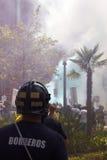 De brandbestrijders protesteren Royalty-vrije Stock Foto's