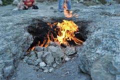 De branden van Yanartas Stock Afbeeldingen