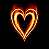 De brandende brand van het hartstochtshart stock illustratie