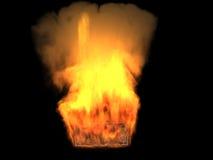 De brandende dollar Royalty-vrije Stock Afbeeldingen