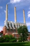 De brandende elektrische centrale van de steenkool Royalty-vrije Stock Foto's