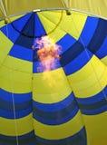 De brander van de het vurenvlam van de hete luchtballon Stock Fotografie