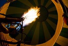 De brander van de hete luchtballon Stock Afbeeldingen