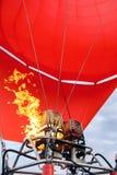 De branders van een Hete Luchtballon in verrichting stock fotografie