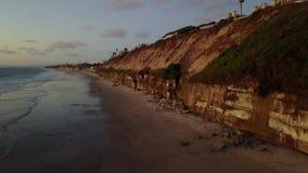 De Branding en het Strandscènes Encinitas Californië van SWAMIS stock footage