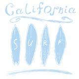 De brandingstypografie van Californië, het ontwerpgrafiek van de t-shirtdruk, vectoraffiche, het Etiket van Kentekenapplique Stock Afbeelding