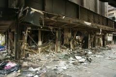 De brandstichting van Bangkok stock afbeelding
