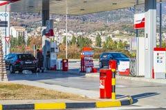 De brandstof en het benzinestation van EKO royalty-vrije stock fotografie