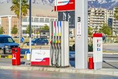De brandstof en het benzinestation van EKO stock afbeelding