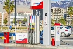 De brandstof en het benzinestation van EKO royalty-vrije stock afbeeldingen
