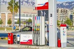 De brandstof en het benzinestation van EKO stock foto's