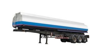 De brandstof van de tankeraanhangwagen voor geïsoleerd vervoer royalty-vrije stock afbeelding