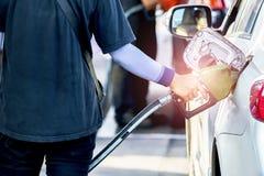De brandstofbesparing is een geleidelijke economische boom Stock Foto's