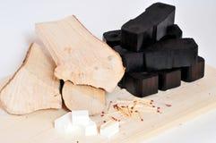 De brandstofenergie van het brandhout stock afbeeldingen
