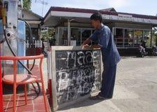 DE BRANDSTOFprijs VAN INDONESIË EEN ANDERE VERHOGING Stock Foto