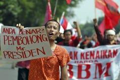 DE BRANDSTOFprijs VAN INDONESIË EEN ANDERE VERHOGING Royalty-vrije Stock Afbeelding