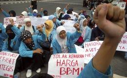 DE BRANDSTOFprijs VAN INDONESIË EEN ANDERE VERHOGING Royalty-vrije Stock Fotografie