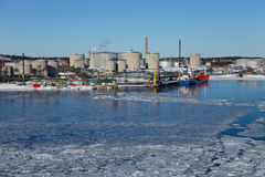 De brandstofterminal van Nynashamn Royalty-vrije Stock Foto